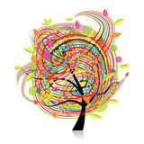 Funny spring tree for your design Royalty Free Stock Photography