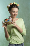 Funny, spring woman Stock Photography