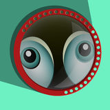 Funny spying eyes.  Eyeballs vector.  Staring - Royalty Free Stock Images