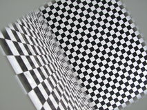 Funny square pattern room. Picture of a checkered room - in a funny weird angle like a mental institution or a funny mirrors room Stock Photography