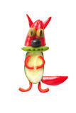 Funny squirrel made of fresh vegetables Royalty Free Stock Photos