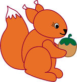Funny squirrel - vector illustration Royalty Free Stock Image