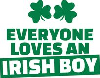 Funny St. Patrick`s Day saying - Everyone loves an irish boy. Icon Royalty Free Stock Image