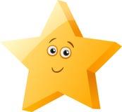 Funny star cartoon illustration Stock Photos