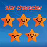Funny star character. Abstract illustration cooperate, vectore background / ikon Stock Image