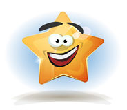 Funny Star Character Icon Stock Photo