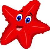 Funny starfish cartoon posing Royalty Free Stock Image