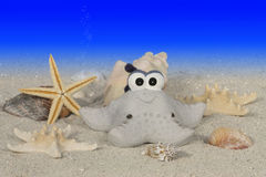 Funny starfish under water Royalty Free Stock Images