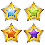Funny Stars Icons For Ui Game Royalty Free Stock Photo