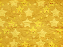 Funny stars on paper texture Stock Images