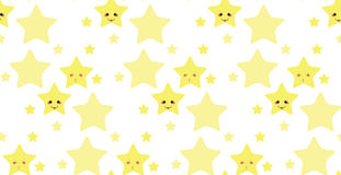Funny stars pattern Royalty Free Stock Images