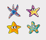 Funny Stars Vector Collection Royalty Free Stock Photography