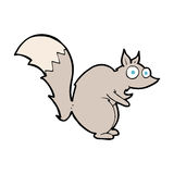 funny startled squirrel cartoon Royalty Free Stock Photography