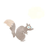 Funny startled squirrel cartoon with thought bubble Stock Photo