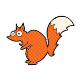 Funny startled squirrel comic cartoon Royalty Free Stock Photo