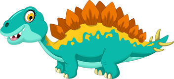 Funny stegosaurus cartoon Stock Image