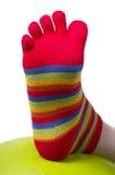 Funny stocking Stock Image