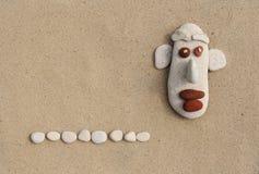 Funny and stone gentleman Stock Image