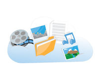 Funny storage cloud Royalty Free Stock Photography