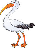Funny stork cartoon Royalty Free Stock Images