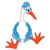 Funny stork sitting Royalty Free Stock Photo