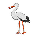 Funny stork. Vector isolated illustration. Stock Photos