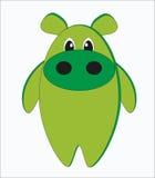 Funny strange hippo Stock Images
