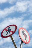 Funny and strange street-signs Royalty Free Stock Photo