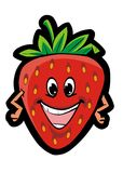 Funny strawberry. Funny sweet red strawberry on white background Royalty Free Stock Images