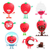 Funny strawberry Stock Photo