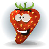 Funny Strawberry Character Royalty Free Stock Images