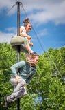 Funny street acrobatics Stock Photos