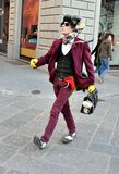 Funny street actor in Italy Royalty Free Stock Images