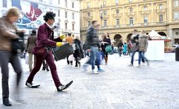 Funny street artist in Italy Royalty Free Stock Images