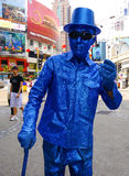 Funny street artist in Malaysia and Kuala Lumpur Royalty Free Stock Photography
