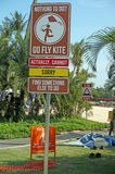 Funny street sign in Sentosa Island. Singapore Royalty Free Stock Images