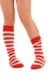 Funny striped socks Stock Photo