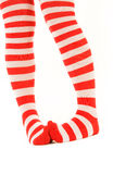Funny striped socks Royalty Free Stock Photo