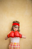 Funny strong child Stock Photos
