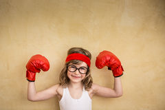 Funny strong child Royalty Free Stock Photography
