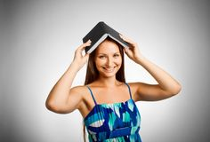 Funny student royalty free stock photo