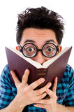 Funny student with books Royalty Free Stock Image
