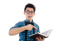 Funny student with books Stock Image
