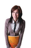 Funny student girl Stock Photography