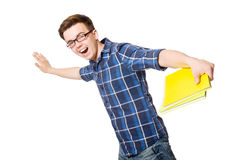 Funny student isolated Royalty Free Stock Image