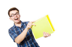 Funny student Stock Photo