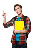 Funny student isolated on white Stock Image