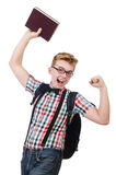 Funny student Royalty Free Stock Photography