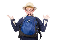 Funny student wearing Royalty Free Stock Photography