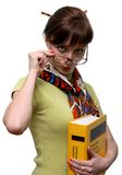 Funny Student With A Dictionary Stock Image